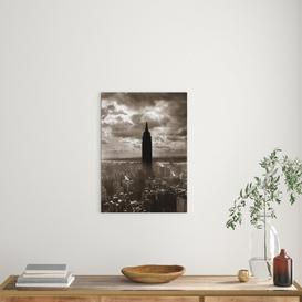 image-1930s 1940s Empire State Building New York City In Storm Cloud Cover - Painting Print on Paper East Urban Home Size: 70 cm H x 50 cm W