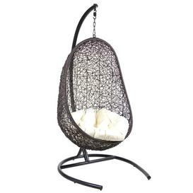 image-Dewayne Pendant Swing Chair with Stand Bloomsbury Market Colour: Black