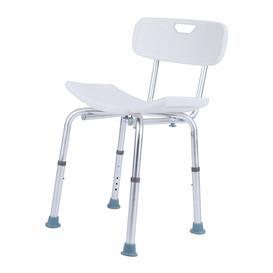 image-Adjustable Bath Shower Chair Anti-Slip Bench Bath Stool Seat For Bathroom