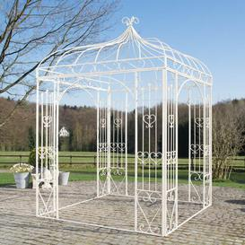 image-3.05m x 2.02m x 2.02m Pergola Fleur De Lis Living Colour: Antique cream