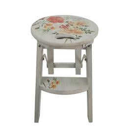 image-Debord Wooden Flowers Home Garden Plant Decorative Stool Lily Manor