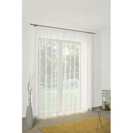 image-Dovie Sheer Curtain Mercury Row Colour: Brown/Green, Panel Size: 120cm H x 750cm W
