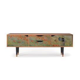 """image-Zayac TV Stand for TVs up to 70"""" Ebern Designs Pattern: The Poppy Field near Argenteuil"""