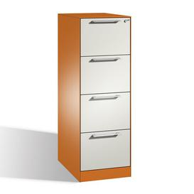 image-Luna 4 Drawer Filing Cabinet Ebern Designs Colour: Yellow-orange/Light grey