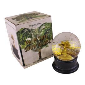image-Gold Palm Tree Snow Globe