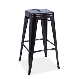 image-Mockingbird 76cm Bar Stool Borough Wharf Colour: Black