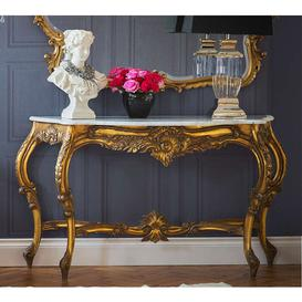 image-Palais de Versailles Gold Large Console Table - Console Table
