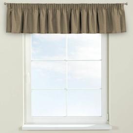 image-Chenille Curtain Pelmet Dekoria Size: 130cm W x 40cm L, Colour: Caffe Latte