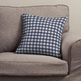 image-Kinga Quadro Cushion Cover Dekoria Colour: Navy blue/Ecru, Size: 60cm H x 60cm W