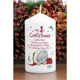 image-Personalised Tatty Teddy My 1st Xmas Candle