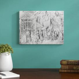 image-Adoration of The Magi from The Giovanni Bellini's Album of Drawings by Giovanni Bellini - Picture Frma Art Print on Paper East Urban Home Size: Small