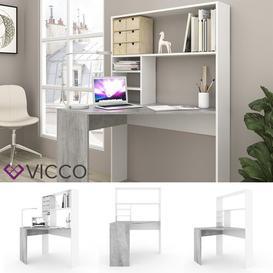 image-Mirata Corner Desk Ebern Designs Colour: Grey