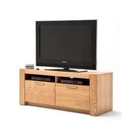 image-Loano Wooden Small TV Unit In Wild Oak
