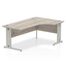 image-Zetta L-Shaped Executive Desk Ebern Designs