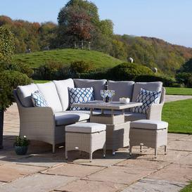 image-2021 Bramblecrest Tetbury 6-Seat Mini Outdoor Sofa Set with Adjustable Table  Nutmeg