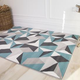 image-Modern Geometric Living Room Rugs - Choose Your Colour