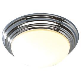 image-Dar BAR5250 Barclay Small Flush Chrome Bathroom Ceiling Light IP44