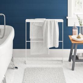 image-Bath Hanger 65cm Free-standing Towel Rack Yamazaki Finish: White
