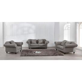 image-Cory 3 Piece Sofa Set Marlow Home Co. Upholstery Colour: Grey