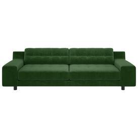 image-Habitat Hendricks 4 Seater Velvet Sofa - moss Green