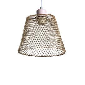 image-Compact Basket 20cm Metal Bell Lamp Shade