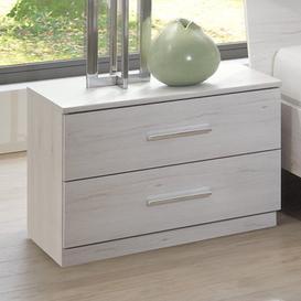 image-Susan Wooden Bedside Cabinet In White Oak