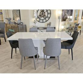 image-Jaylyn Dining Set with 6 Chairs Metro Lane Colour (Chair): Grey