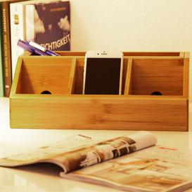 image-Kaylee Bamboo Desk Organiser Natur Pur