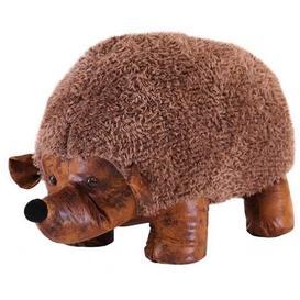 image-Animal Ottomans Novelty Brown Hedgehog Footstool