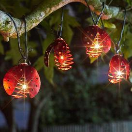 image-Smart Solar Ladybird Lights - Set Of 10