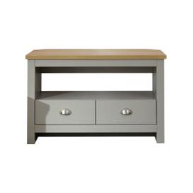image-Lancaster Corner TV Stand Grey and Brown