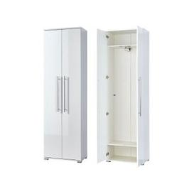 image-Inside Hallway Wardrobe In White Wood And Gloss Fronts
