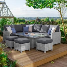 image-Perrytown 8 Seater Dining Set with Cushions Sol 72 Outdoor Colour: White Wash