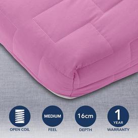 image-Jazz Coil Sprung Mattress Pink