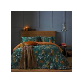 image-Riva Forest Fauna Emerald Duvet Cover and Pillowcase Set Emerald