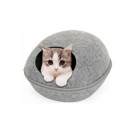 image-Dorinda Round Cat Bed Archie & Oscar Colour: Dark Grey