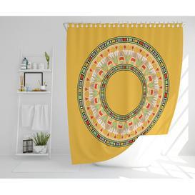 image-Rok Polyester Shower Curtain Set Bloomsbury Market Size: 177cm H x 210cm W