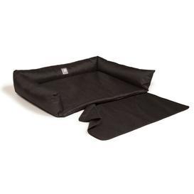 image-Danish Design Bolster Cushion in Black Danish Design Size: 21cm H x 100cm W x 78cm D