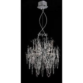 image-Diyas IL30543 Lexi Ceiling Pendant Light in Polished Chrome Finish