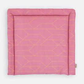image-Golden Lines Changing Mat KraftKids Size: 78 x 78cm, Colour: Pink
