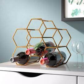 image-Pico 6 Bottle Tabletop Wine Rack XLBoom Colour: Brass