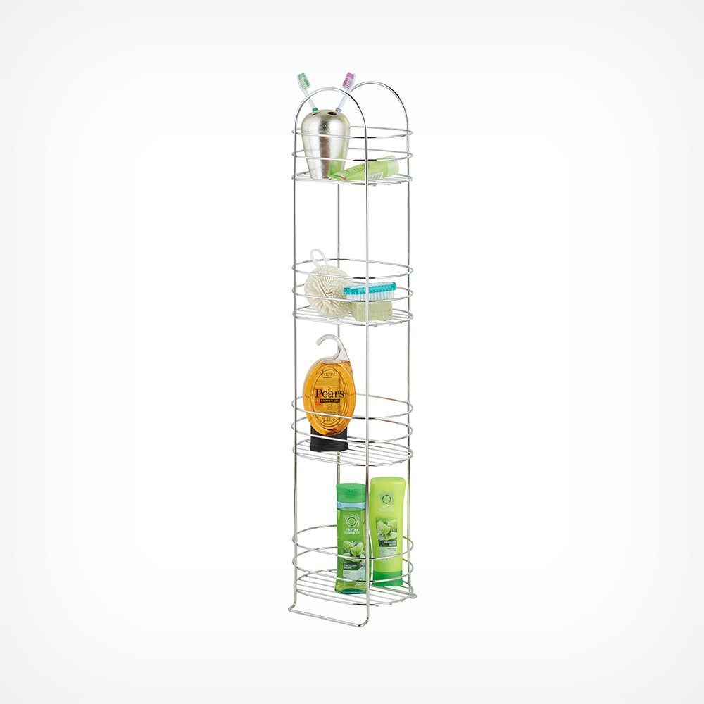 image-4 Tier Bathroom Storage Rack