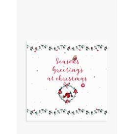 image-Laura Sherratt Designs Seasons Greetings Wreath Christmas Card