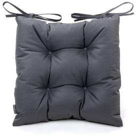 image-Garden Dining Chair Cushion Brambly Cottage Colour: Charcoal Grey