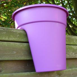 image-3 Piece Plastic Balcony Planter Set KHW Colour: Purple