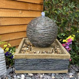 image-Compact Earth Stone Resin Water Feature with Light Dakota Fields Power Source: Electricity
