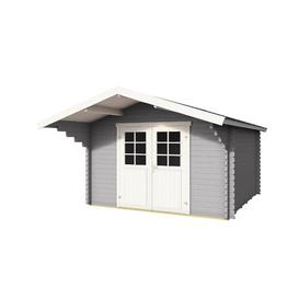 image-11 x 15 Ft. Tongue & Groove Summer House Sol 72 Outdoor Colour: Light Grey, Wall Thickness: 4.4cm