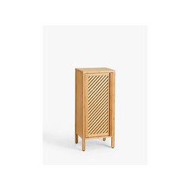 image-John Lewis & Partners Chevron Single Towel Cupboard, Natural