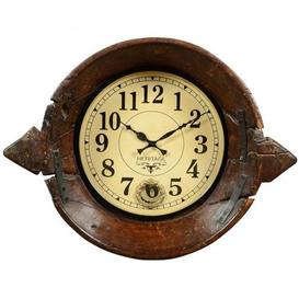 image-Upcycled Collection Old Parat Clock with Pendulum