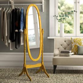 image-Vennessa Cheval Mirror Marlow Home Co. Finish: Antique
